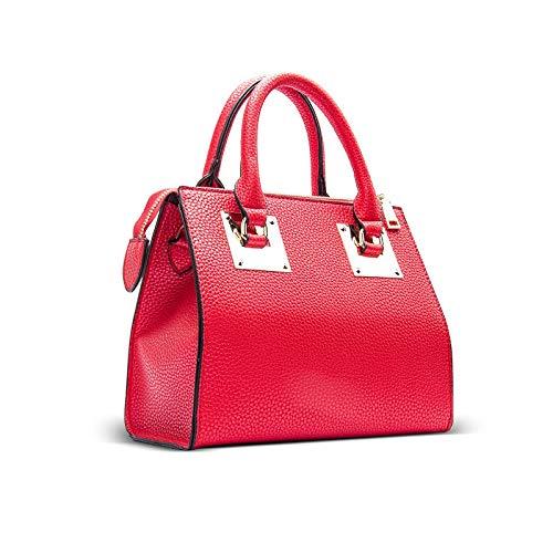 LINJIANG Bolso De Mujer Bolso De Sillín Clásico De Moda Bolso De Hombro Bolso Portátil Simple del Todo Fósforo Rojo