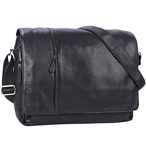 STILORD 'Elias' Vintage Messenger Bag Leather Shoulder Cross-Body Laptop Bag 15.6 inches...