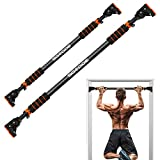 SGODDE Pull Up Bar for Doorway, Door Pull Up Bar Wall Mounted No Screws Portable Chin Up Bar, Multi-Grip Power Body Workout Bar Home Gym System Exercise Rod Equipment for Fitness Orange