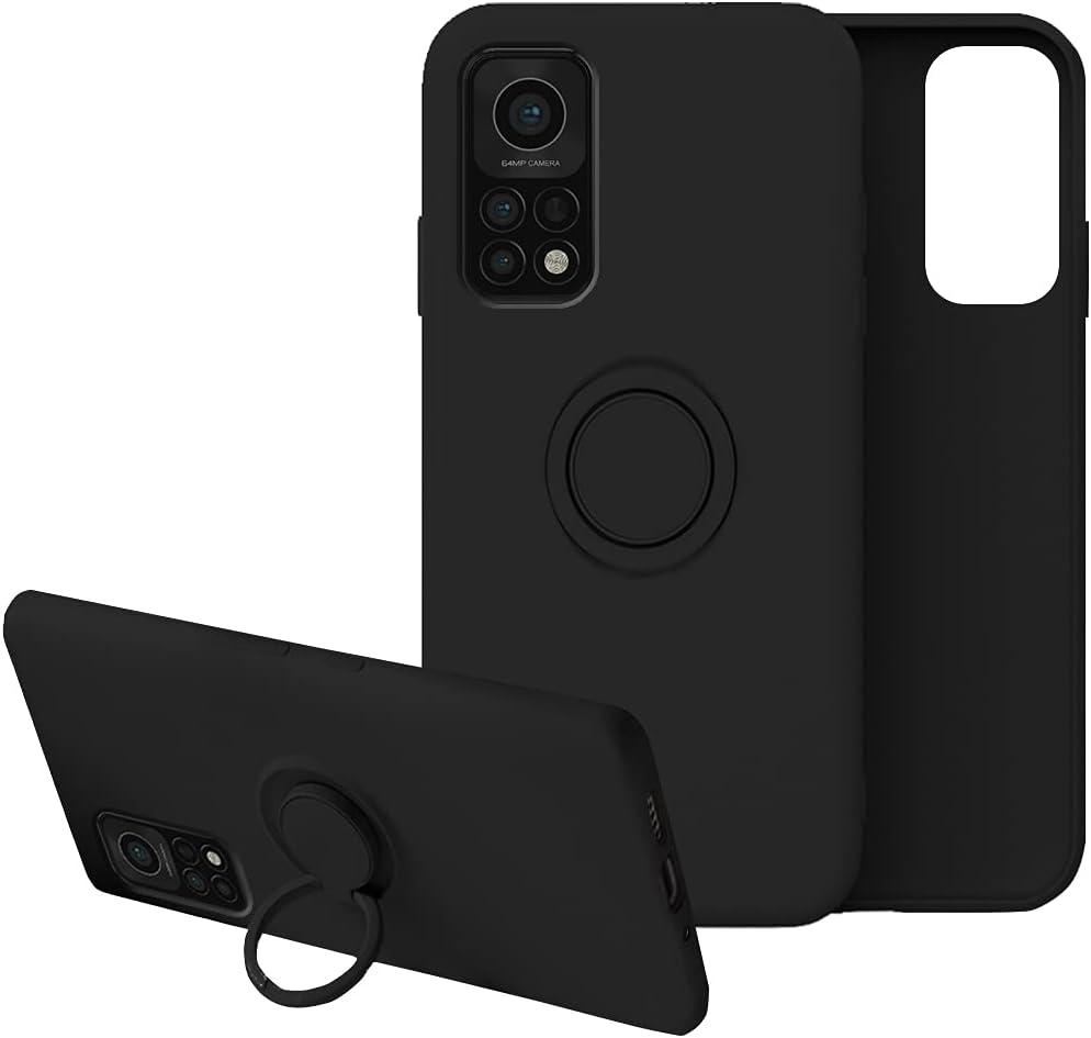 Funda para Xiaomi Mi 10T Funda Xiaomi Mi 10T Pro,Fundas Xiaomi Mi 10T Carcasa Xiaomi Mi 10T Pro 5g Case Silicona Antigolpes Compatible con Posterior Magnético Soporte (Xiaomi Mi 10T Pro, Negro)