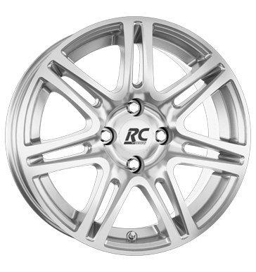 RCDesign RC28 7x16 ET38 4x100 kristallsilber