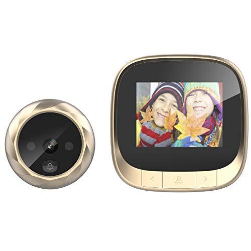 Haokaini Cámara Digital con Visor de Puerta Visión Nocturna Ángulo de 90 Grados 2. Monitor LCD de 4 Pulgadas para Seguridad en El Hogar