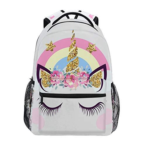 Mochila de unicornio rosa para niñas y niños escolares, para ordenador portátil, 20300191