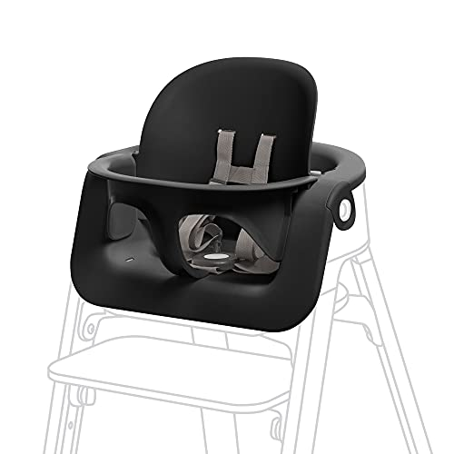 Stokke Steps Baby Set, Black - Transform Stokke Steps Into Comfortable High Chair - Suitable for Baby from 6 Months - Includes 5-Point Safety Harness - Tool Free, Adjustable & Ergonomic