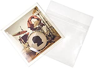 Crystal Clear Album Sleeves 7 3/8 x 7 Protective Closure (Pack of 100)
