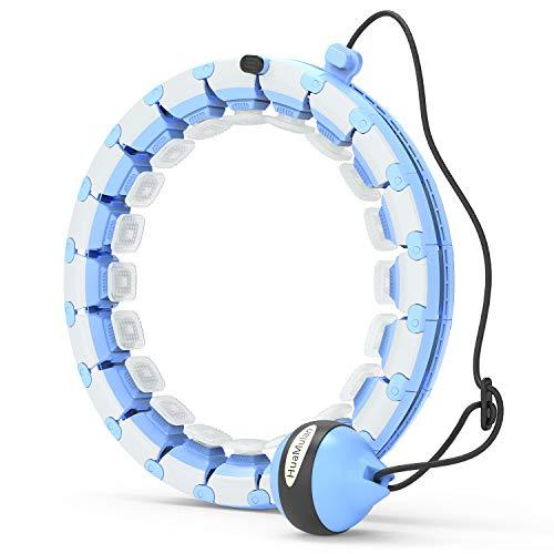 HuaMulan Smart Hoola Hoop, Smart Fitness Reifen der Nicht runterfällt mit Massageknoten und 24 beweglichen Teilen, sehr gut geeignet für Anfänger, Fitness- und Gewichtsverlusttraining