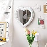 Xyconcep Espejo de maquillaje en forma de corazón de 10.6 pulgadas, decoración de mesa de dormitorio (blanco, 26.6...