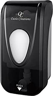 Soap Dispenser by Oasis Creations –Soap/Lotion-Wall Mount– 1000ml/33oz. Commercial Or Residential -Black Smoke