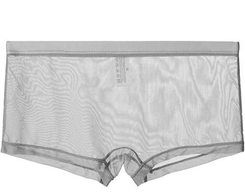 lclvld Ropa Interior Sexy Hombres Boxer Transparente Pantalones Cortos de Malla Ropa Interior Transpirable