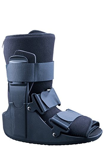 MARS Wellness Polymer Short Cam Walker Boot - Fracture, Sprained Ankle/Foot Stabilizer - Broken Toe Walking Ankle Boot for Men or Women - Medium