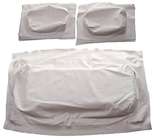 Golf Cart Club Car DS 1982-2000.5 Front Seat Covers - OEM Match - White - Complete Set