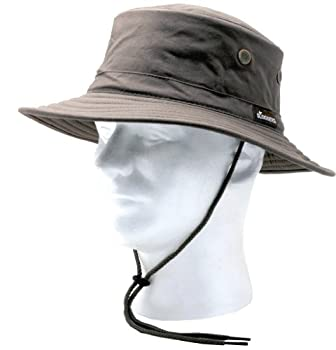 Sloggers Classic Cotton Hat with Wind Lanyard Dark Brown UPF 50+ Maximum Sun Protection Style 4471DB,Adjustable Medium to Large