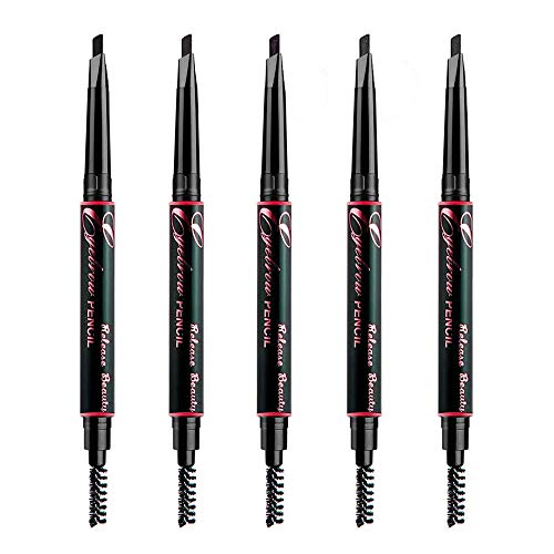 "Eyebrow Pencil Set - 5 Colors Dual ended Definition Eye Brow Crayon Liner Pencils with Integrated Brush Eyes Makeup for Women and Girls by ""wonder X"""