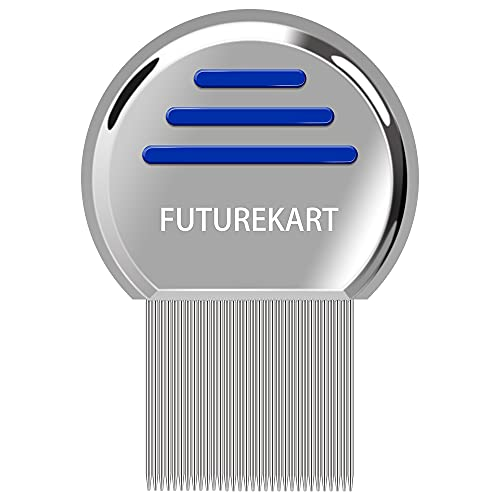 Futurekart Stainless Steel Lice Treatment Comb for Head Lice/Lice Egg Removal Comb