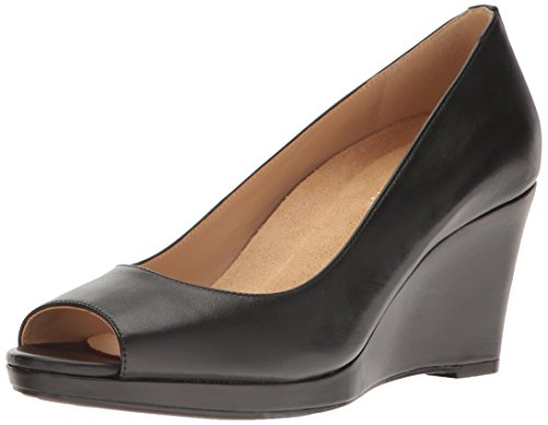 Naturalizer Womens Olivia Wedge Pump, Black, 7.5 N US