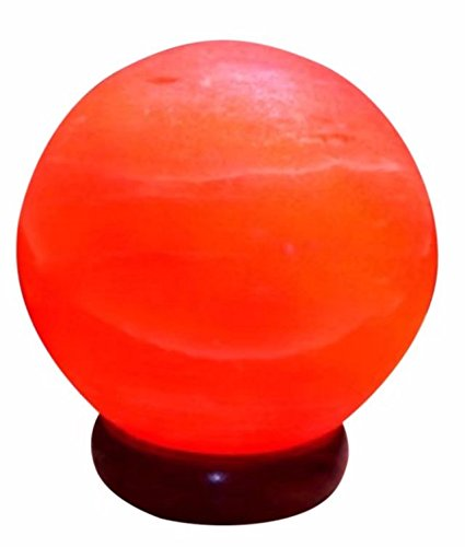 BoNew-Oral Natural Himalayan Crystal Salt Lamp Crafted Ball Shape Approx 3.5kg