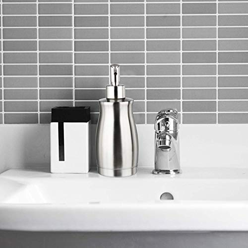 ARKTEKシャンプーボトル、ソープディスペンサーステンレスおしゃれディスペンサーステンレスシャンプーボトルハンドソープキッチン洗面所などに適用400ML