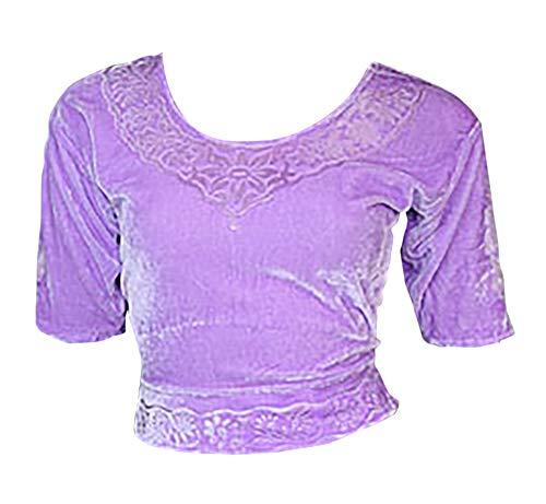 Trendofindia sering Choli (Sari bovenstuk) fluweel maat 48 g. XXL ideaal voor buikdansen.