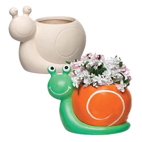 Baker Ross Macetas de cerámica en Forma de Caracol, Decoraciones ...