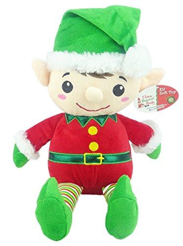 Elves Behavin Badly 16 Zoll Weiche große Elf Spielzeug - Arthur und Martha die Weihnachtselfen - GRÜNE Hut ROTE Körper - Kinder weiche Weihnachtsspielzeug - Elf Spielzeug - Elfen, die schlecht sind