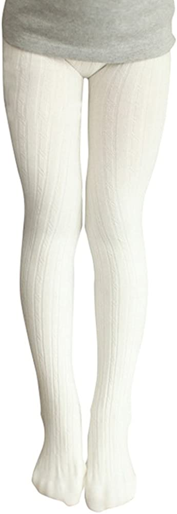 BOGIWELL Kids Girls Fall Winter Cotton Strecth Cable Knit Footed Tight Leggings