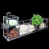 qazwsx Tanque de Pescado -2/3/4/5/6 Grids Aquarium Fish Tank Pond Filtro Externo Juego de acrílico, Durable 107 (Color : 3)