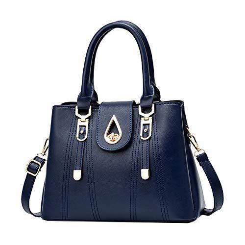SDINAZ Bolsos de mano Mujer Bolsos bandolera Moda Bolsos totes Shoppers y bolsos de hombro ES99 Azul marino