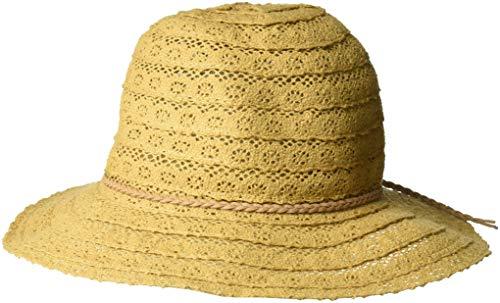NYFASHION101 Open Knit Brown Braided Trim Vented Cotton Beach Sun Hat - Coffee