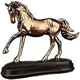 KDMB Estatuas de Caballos de Oro de Resina Vintage Figuras Adornos Accesorios Escultura de Caballo de Boda Artesanía Decoración Regalos de Oficina en casa 1215