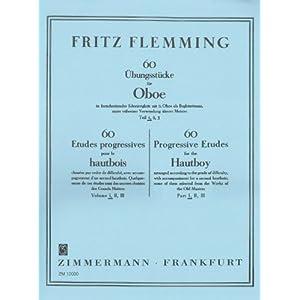 60 Übungsstücke in fortschreitender Schwierigkeit: Teil 1. Oboe mit 2. Oboe als Begleitstimme.