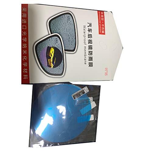 Espejo retrovisor de Coche Membrana Impermeable Película de Espejo antivaho AccesoriosTransparent95 * 95mm