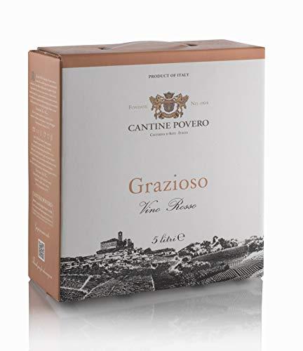 Cantine Povero - Bag In Box 5 lt. Vino Rosso da Uve Grignolino'Grazioso' 12°