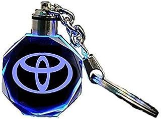 ميدالية مفاتيح بشعار سيارة تويوتا تنير بألوان متغيرة