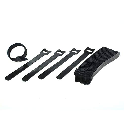 Cable Ties Pack of 25 Mixed Pack 15CM 20CM 30 CM Black with Velcro