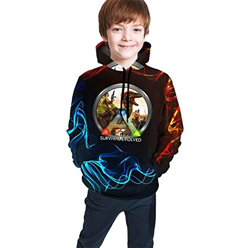 ibishibi8 Kind mit Kapuze Sweatshirt Youth Teen Ark Survival Evolved Logo Winter Hoodie Sweatershirt Long Sleeve Pullover Hoodies for Teens Boys Girls Clothes