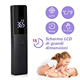 Termometro infrarossi, Termometro Frontale Infrarossi Senza Contatto, Termometri Medico con Display a LED per Febbre per Neonati, Bambini, Adulti