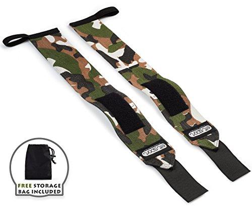 Muñequeras Deportivas Profesionales 45cm, Heavy Duty Wrist Wraps - Resistentes, Crossfit, Gimnasio, Levantamiento Pesas, Calistenia, Fitness, Musculación, Weight Lifting, Powerlifting - Hombre y Mujer