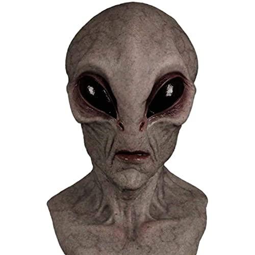 Máscara De Halloween Silicone Alien, Máscara De La Cabeza De Silicona Hecha A Mano...
