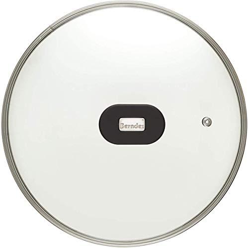 Berndes H80501 Glasdeckel 28 cm, Pfannendeckel mit Dampföffnung, Deckel Hitzebeständig bis 260 °C, Edelstahlgriff, auch passend zu Tefal Pfanne H80506, E43506 oder E85606