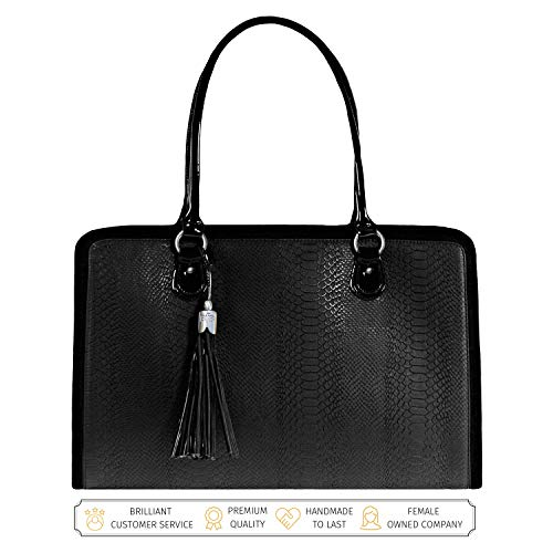 Laptop Bag for Women – 17 inch Computer Briefcase for Women Handmade Luxury Vegan Leather Designer Stylish Travel Business Shoulder Messenger Work Tote Carrying Computer Case for Laptops