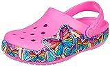 CROCS CrocsFL MltiBtterfly BdLghtCgK, Zuecos Tiempo Libre y Sportwear Infantil Unisex niños, Rosa...