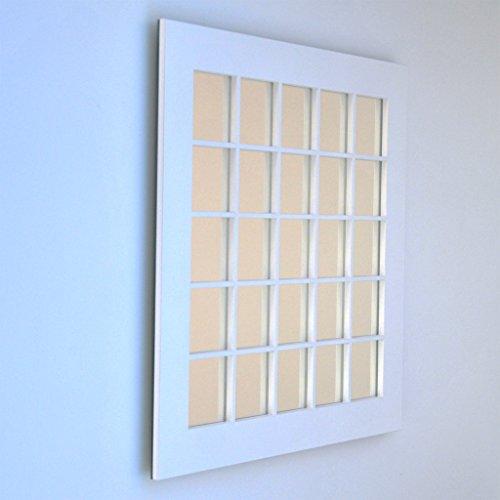 DECOHOGAR.SHOP Miroir Mural carré - 25 Carré Grand - 80 x 80 cm - Laqué Blanc