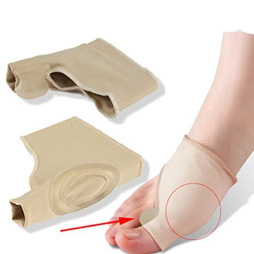 Juanete Alivio Pack - 2 juanete Pads esparcidores del dedo del pie - para el alivio del dolor y la correcta alineación del dedo del pie dedo del pie Hallux Valgus (Caqui)