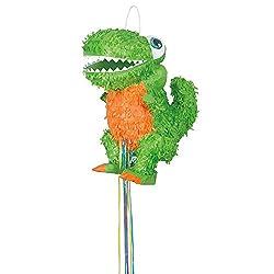 3. Pull String T-Rex Dinosaur Pinata