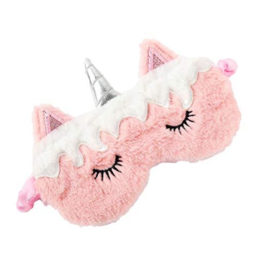 Schlafmaske Augenmaske für Kinder Damen Mädchen Studenten Schlafmaske niedliches Einhorn Cartoon Tier Druck lichtblockierende Abdeckung (A)