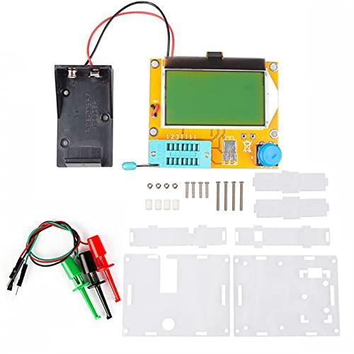 herramientas eléctricas METER ESR MEGA328 TRANSISTER TRUEBER DIGITAL V2.68 ESR-T4 DIODE TRIODE CAPACITANCE MOS/PNP/NPN LCR 12864 Pantalla LCD Probador de pantalla medidor de voltaje