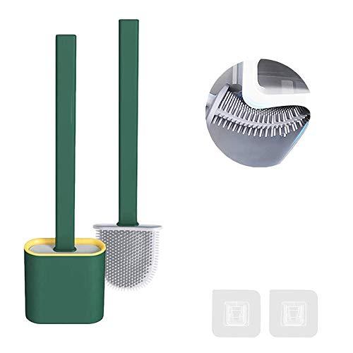 FAFAFA WC Bürste,Toilettenbürste Set,Toilettenbürste,Klobürste Silikon Wandmontage,Toilettenbürstenhalter,Toilettenbürste Set Silikon,Badezimmer Oder Gäste-WC,Toilettenreinigungsbürste Silikon