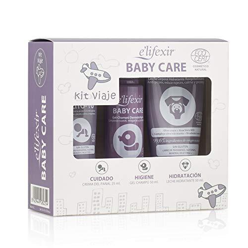 Elifexir Baby Care, Kit de Viaje Eco, Cuidado Piel del Bebé, Minitalla, 125ml
