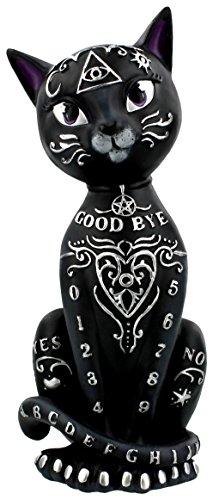 Nemesis Now Mystic Kitty - Statuetta mistica a Forma di Gatto, 26 cm, in Resina, Taglia Unica, Colore Nero