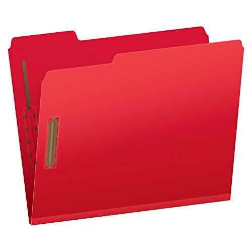 "Pendaflex Pressboard Fastener Folders, Letter Size, Bright Red, 2"" Expansion, 1/3 Cut, 25/BX (15936GW)"